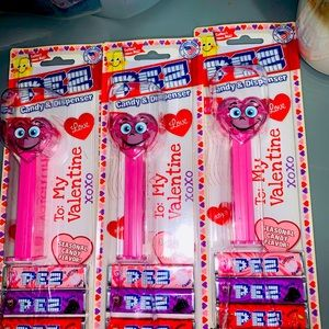 NWT Valentine's Day 2021 PEZ bundle lot of 3 pink